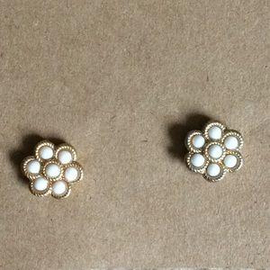 Stella and Dot flower stud earrings
